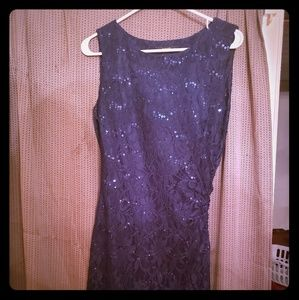 Navy sequined dress